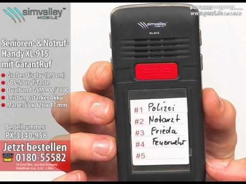 simvalley MOBILE Komfort- & Notruf-Handy XL-915 mit GarantRuf