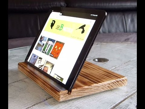 comment fabriquer un support tablette en bois youtube. Black Bedroom Furniture Sets. Home Design Ideas