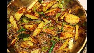 බේක් කර තෙම්පරාදු කරගත් අල/Srllankan style Baked & Tempered potatoes