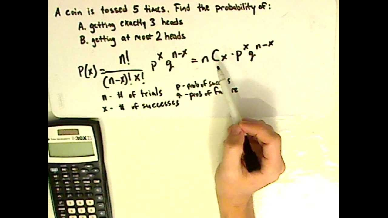statistics - binomial distribution - finding probability - examples 1