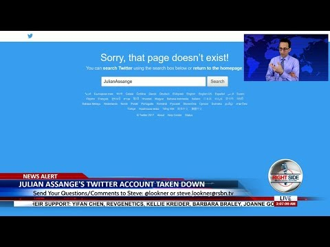 Julian Assange's Twitter Account Taken Down - LIVE BREAKING NEWS COVERAGE