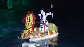 Новогоднее водное представление в Рузе