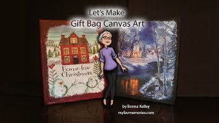 How to Make Gift Bags look beautiful on a Canvas (2017)