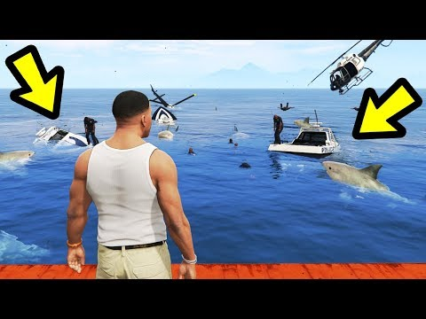 What if You Bring Police to SHARK Territory? (GTA 5)