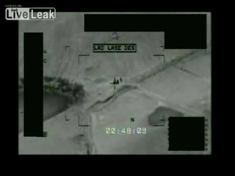 UAV Predator Engage A Group Of Insurgents With Hellfire Missile In Iraq