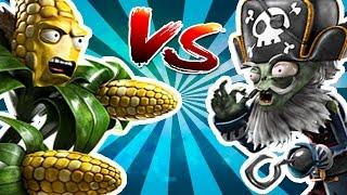 CAPTAIN DEADBEARD VS KERNEL CORN - Plants vs Zombies Garden warfare 2