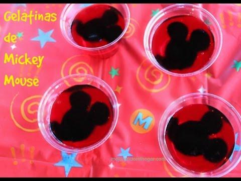 Gelatinas de Mickey Mouse Idea fácil para Fiestas