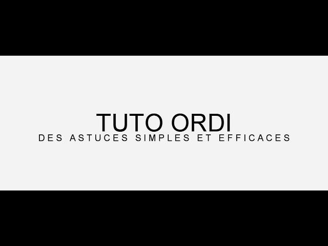 Présentation de ma chaîne TUTO ORDI