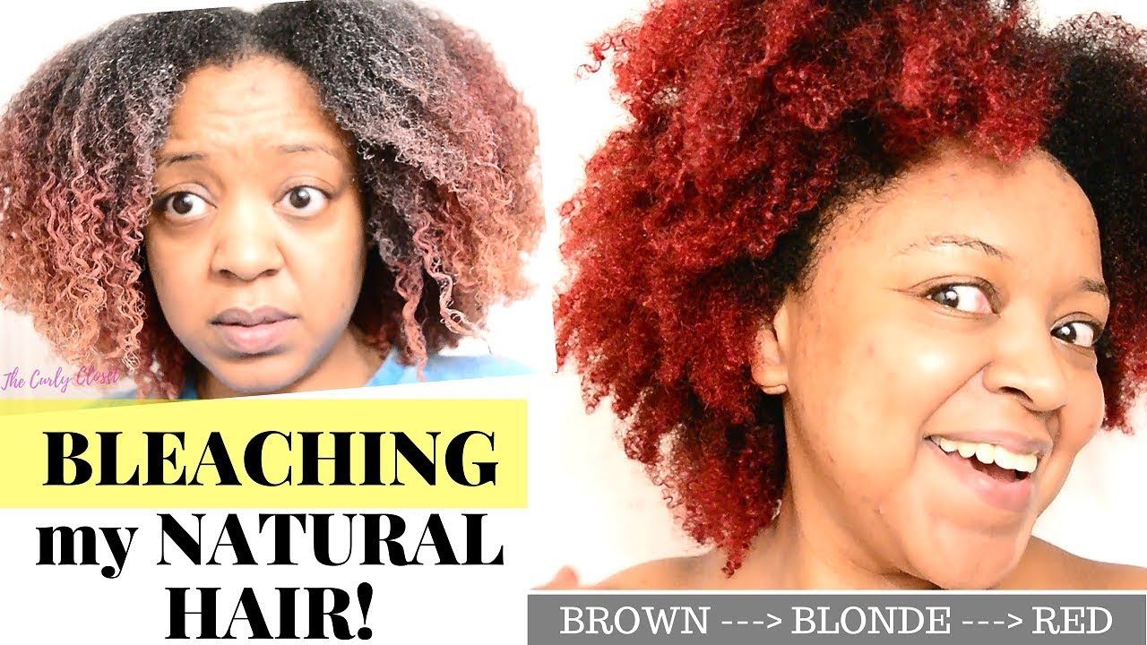Red Ombre On Natural Hair Using Bleach Type 4 Hair Bleach London