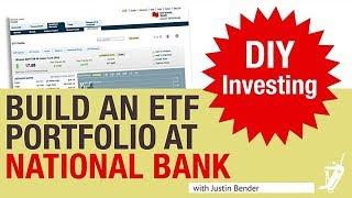 كيفية بناء ETF محفظة في البنك الوطني المباشر الوساطة | DIY الاستثمار مع جاستن بندر