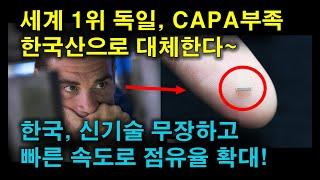 세계 1위 독일, CAPA부족 한국산으로 대체한다~한국…