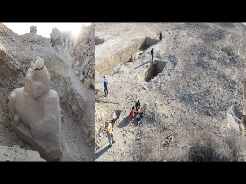 NEW Ancient sphinx sculpture discovered in Egypt