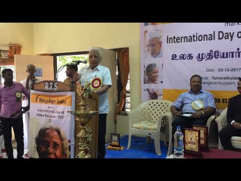 Speech by Advocate Mr. Arunachalam on the Observance of International Day of Older Persons on