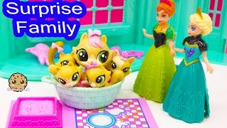 Littlest Pet Shop Kitty Cat Mom and Kitten Babies Surprise Families Playset - Cookieswirlc Video