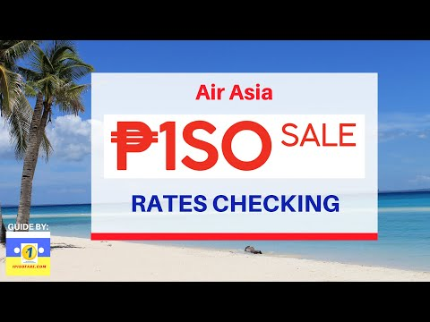 AirAsia Red Hot Piso Sale Promo For 2019 - Rates Checking