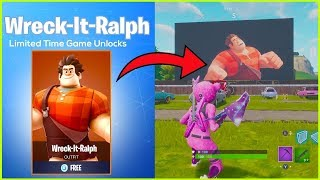"NEW FREE DISNEY SKIN IN FORTNITE! ""Wreck It Ralph"" Fortnite Battle Royale"