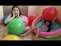Balão Gigante de Bola com surpresa com Julia Silva