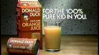 1986 Donald Duck Orange Juice TV Commercial
