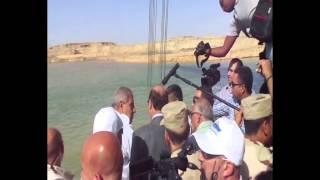 قناة السويس الجديدة::محلب يتابع أعمال التكريك فى رابع أيام عيد الاضحى المبارك