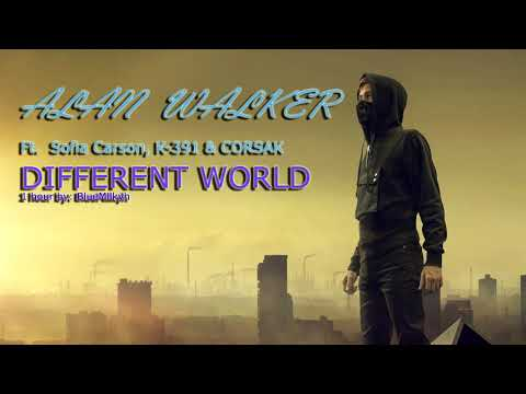 1 HOUR Alan Walker - Different World Feat. Sofia Carson, K-391 & CORSAK 1 HOUR!
