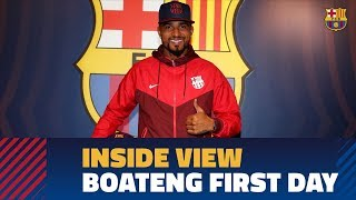 [BEHIND THE SCENES] Boateng's first day at FC Barcelona