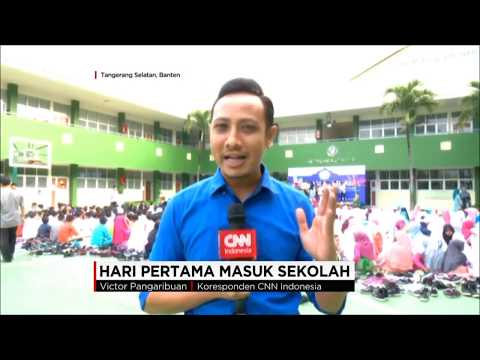 FIRST DAY SCHOOL - SD ISLAM AL FALAAH (LIVE REPORT BY CNN INDONESIA)