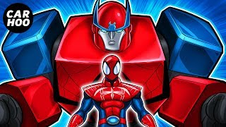 MASKED SPIDER Ep04 - Spider-man Mega Zord !!!! 【Marvel's Spider-man Parody】