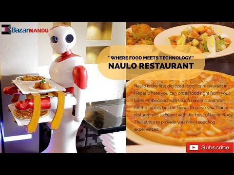 WAITER ROBOT MADE IN NEPAL || NAULO RESTAURANT || DURBARMARG