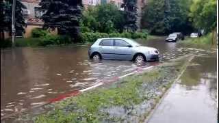 Потоп в Ивантеевке.  15 июня 2015 года