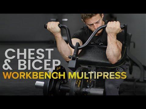 Powertec Workbench Multipress - Chest & Bicep Movements