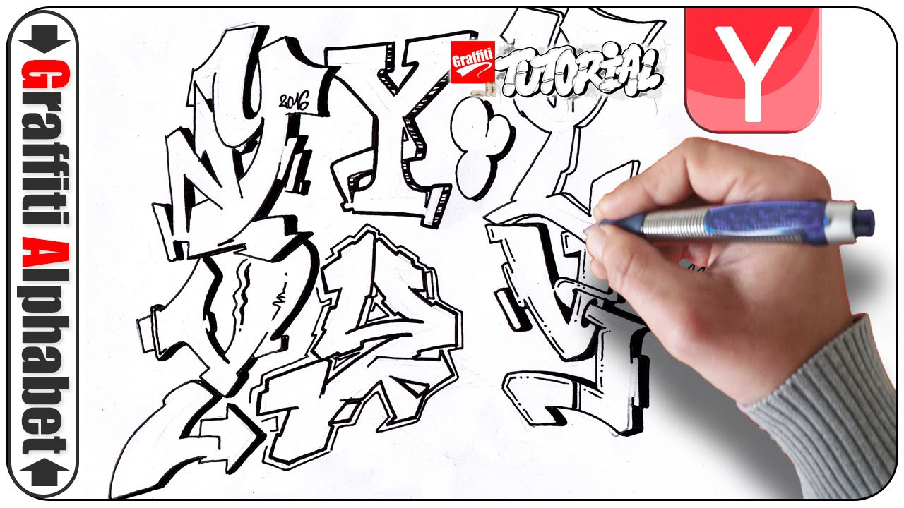 Graffiti Alphabets - Buchstaben Y - Letras Y - Letters Y ... Y Graffiti Letters