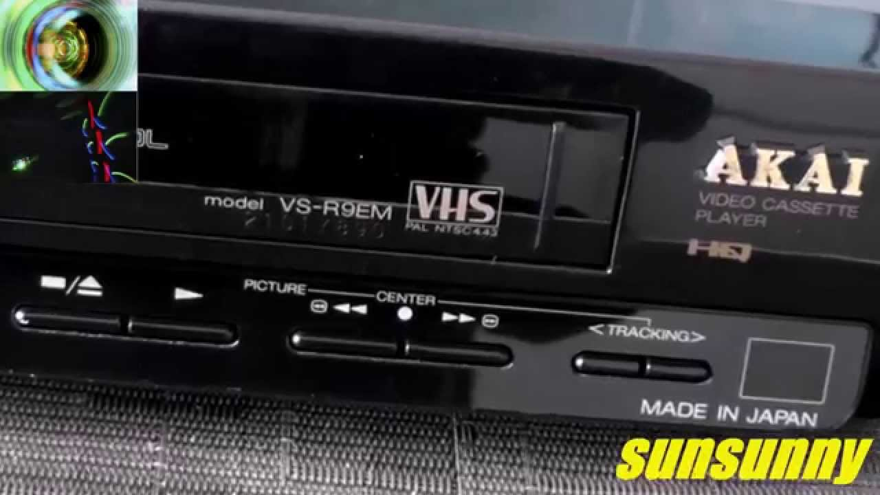 Akai VS-R9EM video cassette player - recorder VHS Pal ...