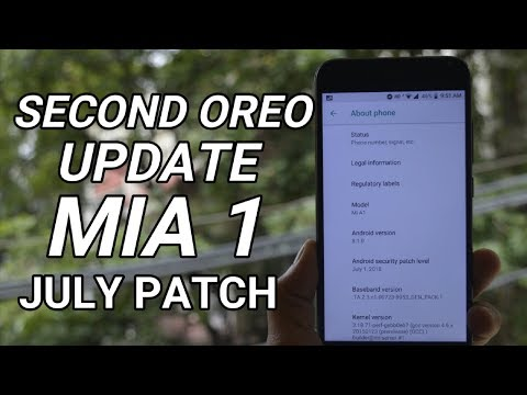 New Oreo 8.1 update with July Security Patch For MI A1!!!!!