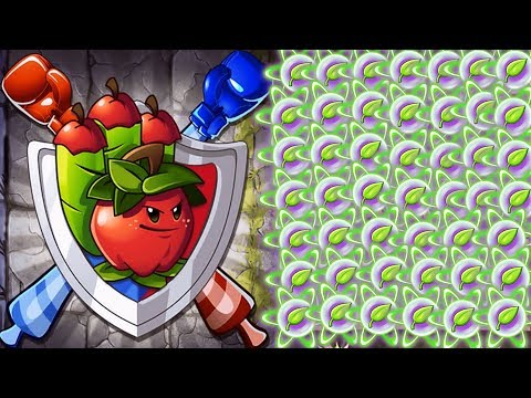 Plants vs Zombies 2 BattleZ -The Ultimate Apple Mortar Straight Path Attack