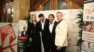 Il saluto di Antonella Salvucci a Gianluca Mech al Festival Internazionale del Film di Roma