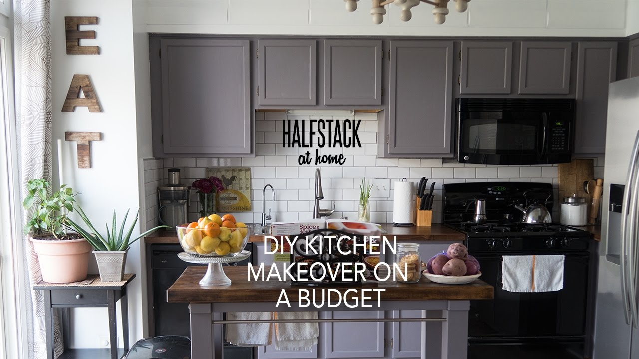 Diy Kitchen Makeover halfstack at home: diy kitchen makeover on a budget - youtube