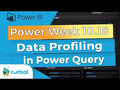 Data Profiling and Fuzzy Matching in Power Query | Power Week 10.18 Power BI Desktop October update