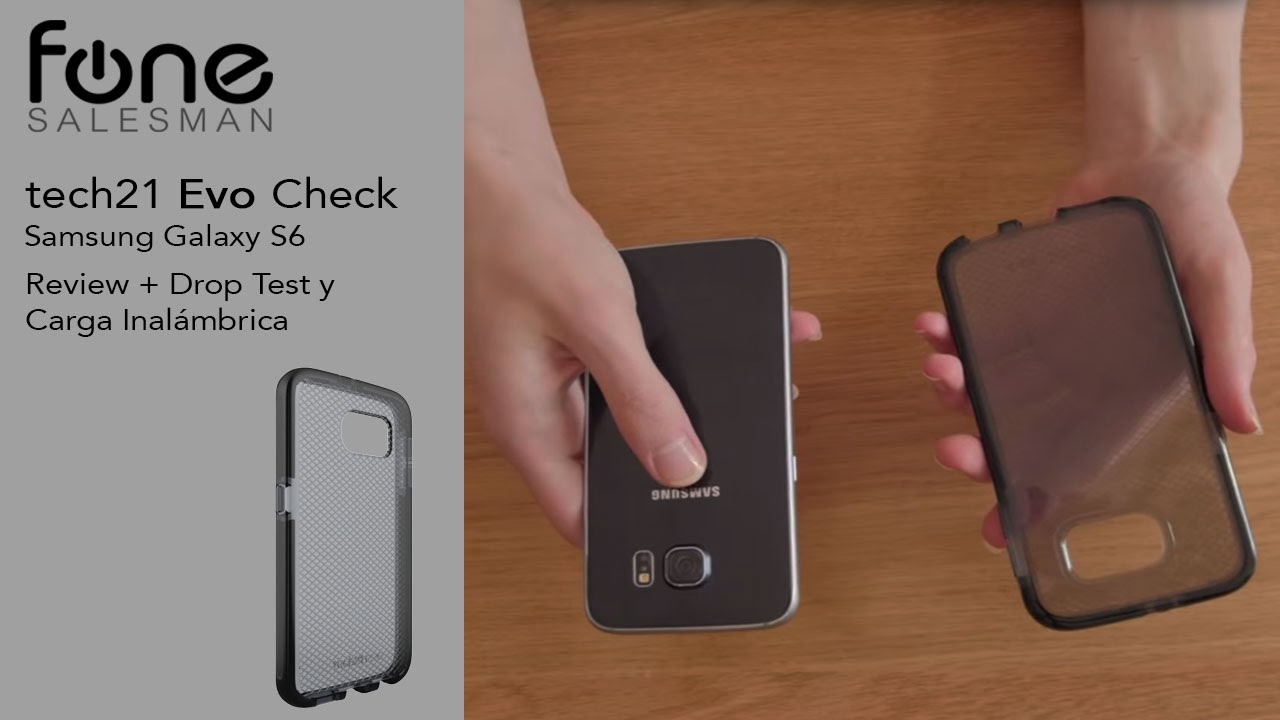 on sale 83920 54016 Tech21 Evo Check Case para Samsung Galaxy S6 Review + Drop test -  fonesalesman