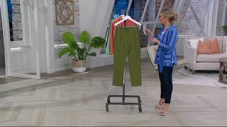C. Wonder Stretch Twill Pull-On Ankle Pants with Seam Detail on QVC