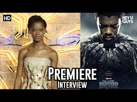 Letitia Wright - Black Panther Premiere Interview
