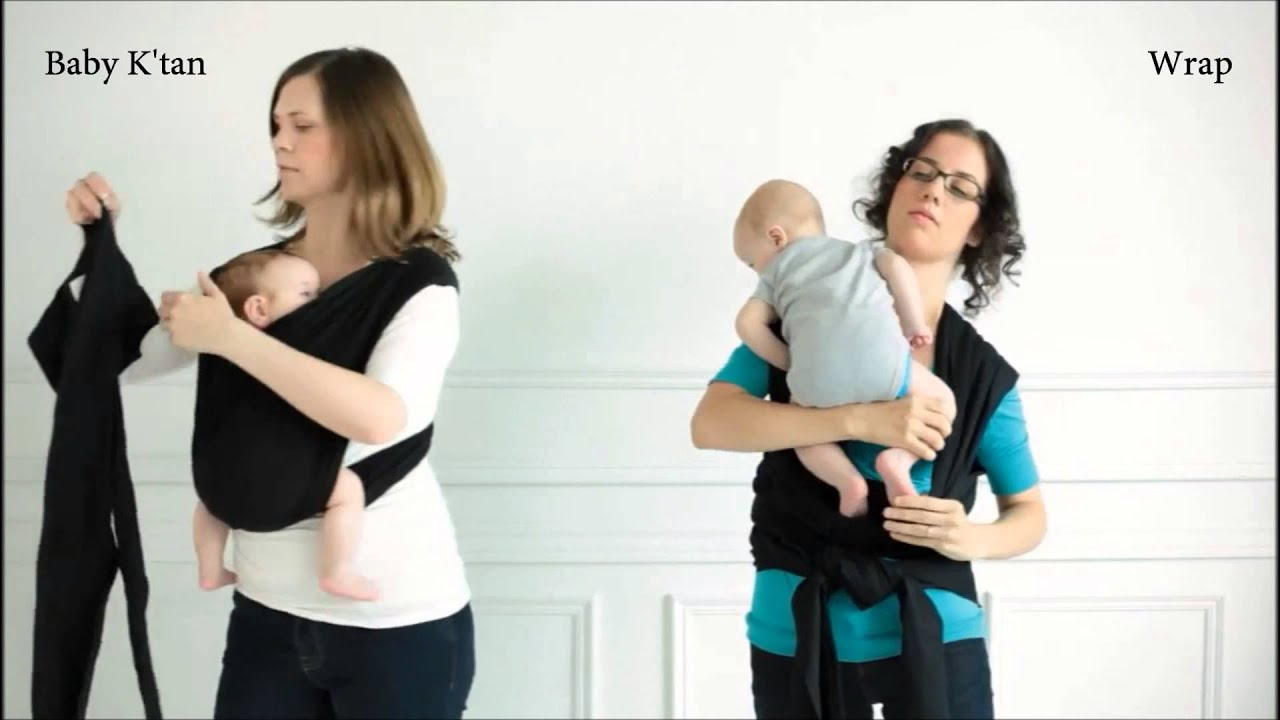 the baby k'tan baby carrier vs the baby wrap  youtube -