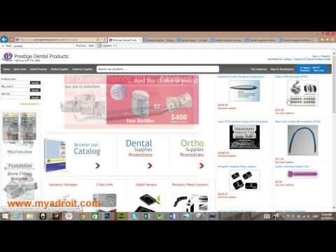 Dental Supplies Website Development
