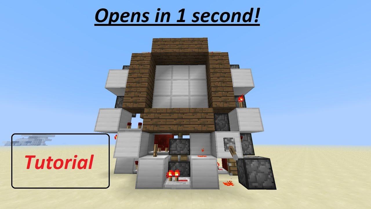 Minecraft Tutorial: Supercharged 3x3 piston door [German/HD]