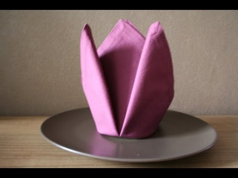 servietten falten krone napkin folding crown youtube. Black Bedroom Furniture Sets. Home Design Ideas