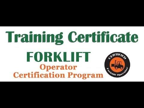 Forklift Operator Certification Program for 2018 - YouTube