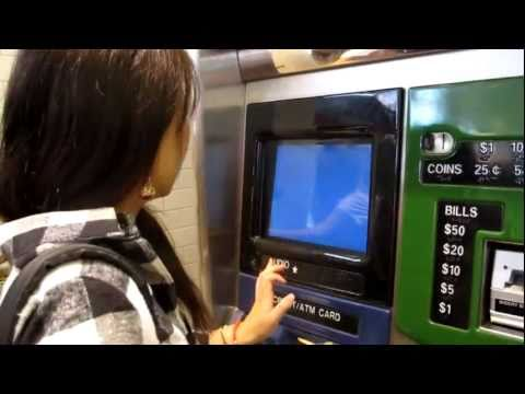 Pinny 1st time buying subway card from the machine in NYC