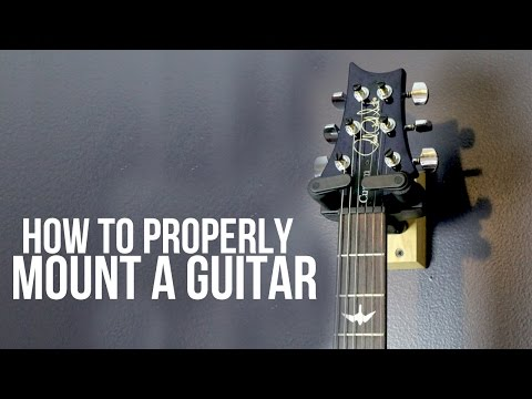 How to Mount a Guitar to a Wall