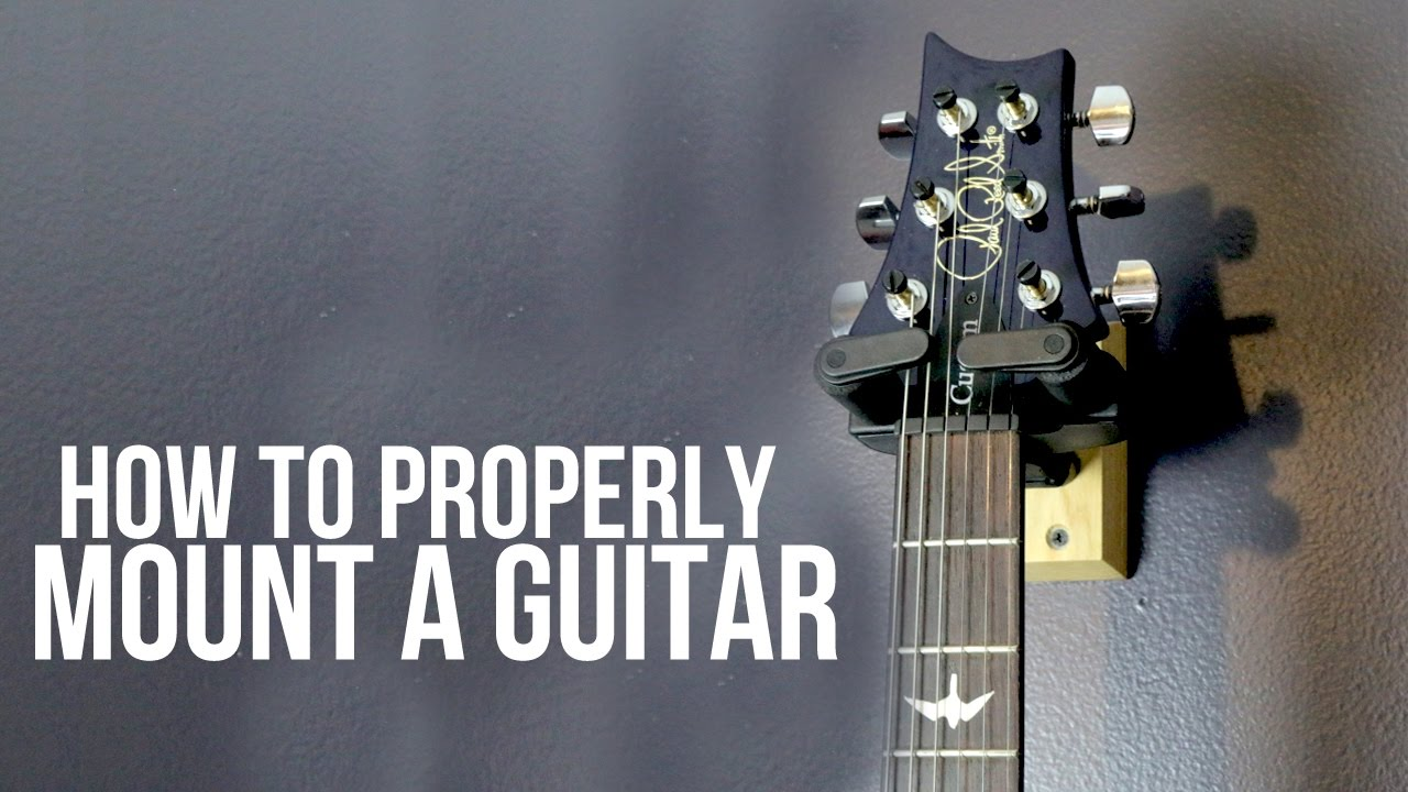 How To Mount A Guitar Wall