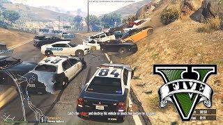 30 POLICJANTÓW VS 1 ZŁODZIEJASZEK - FiveM czyli GTA Online - Hogaty, Gary i Shepard #02