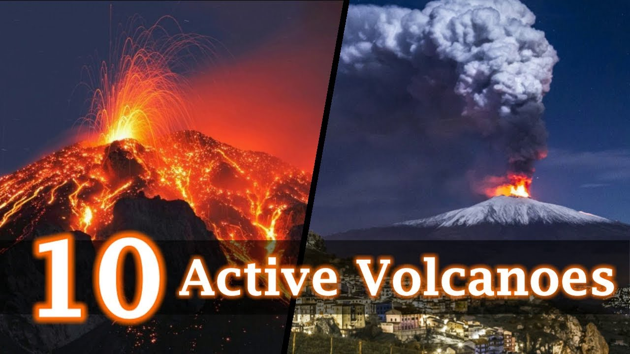 10 Active Volcanoes Around the World - YouTube
